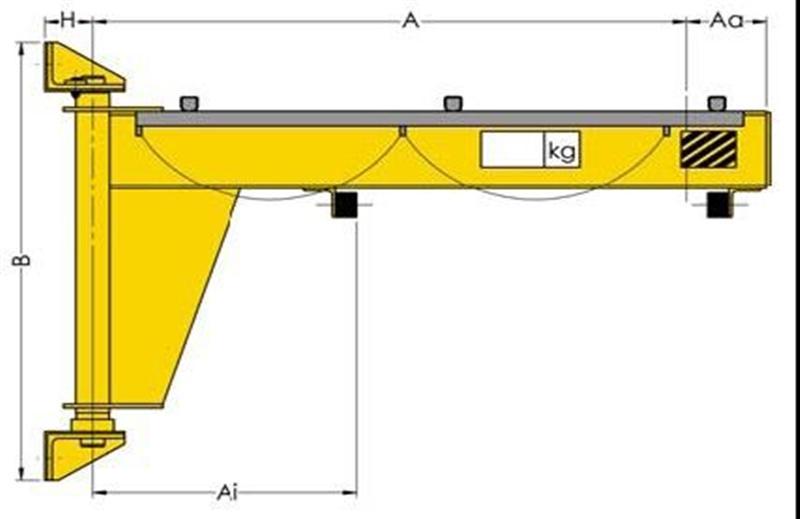 Jib Cranes Design : Wall cantilever mounting jib cranes product crane